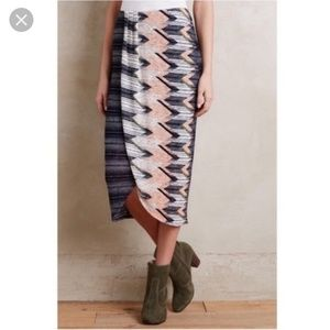 Anthropologie Maeve midi skirt size small